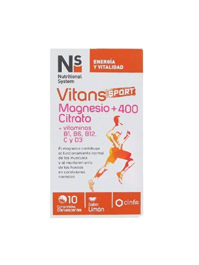 Ns Vitans Forte Sport Magnesio + 400 Citrato 10 comp efervescente