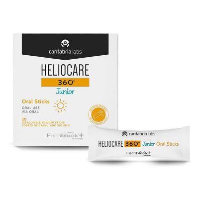 Heliocare 360º Junior Oral Sticks Protección Solar Oral Niños 20 Sobres