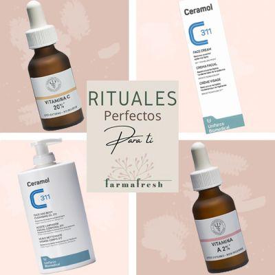Ritual Piel Sensible Ceramol Antiedad Completo vitaminas A+C y Ácido Hialurónico