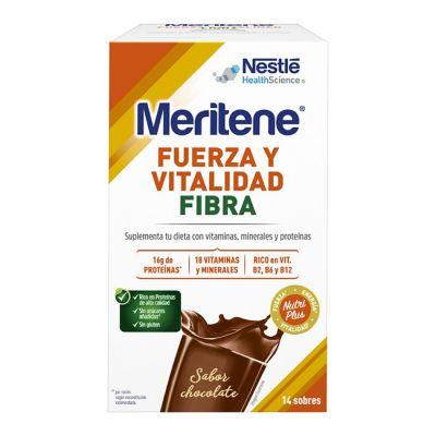 Meritene Fuerza y Vitalidad Batido Fibra Chocolate 14 Sobres