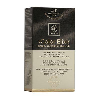 Apivita Tinte Castaño Ceniza Intenso Color Elixir 4,11