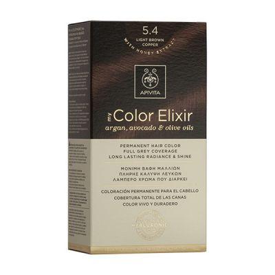 Apivita Tinte Castaño Claro Cobrizo Color Elixir 5,4