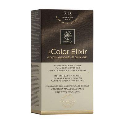 Apivita Tinte Rubio Dorado Ceniza Color Elixir 7,13