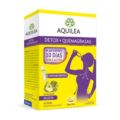 Aquilea Detox+Quemagrasas Plan 10 dias 10 Sticks Sabor Piña