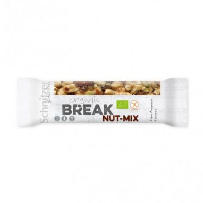Barrita mezcla BREAK NUT-MIX sin gluten Schnitzer 40g