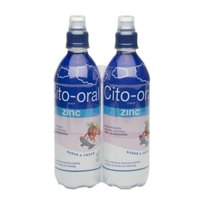 Cito-Oral Zinc Junior Suero Sabor Fresa 2X500ml