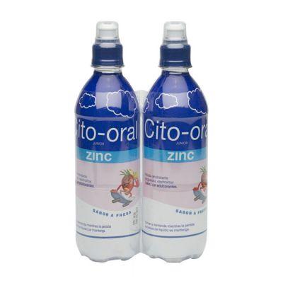 Cito-Oral Zinc Junior Suero Sabor Fresa 2X500ml