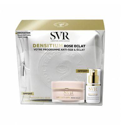 SVR  cofre Densitium Rose Eclat Crema Programa Antiedad y Luminosidad Regalo Contorno de Ojos