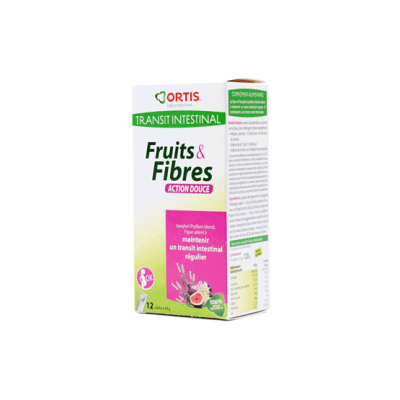 Ortis Transito Intestina Frutas y Fibra Delicado 12 sobres