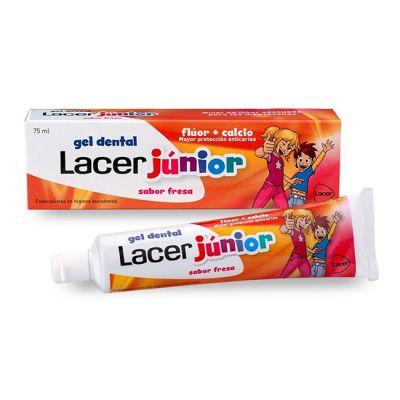 Lacer Junior Gel Dentifrico Fresa  Flúor Y Calcio 75ml