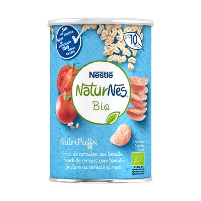 Nestle Naturnes Bio NutriPuffs Cereales con Tomate 10 meses 35g