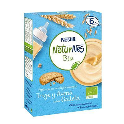 Nestlé Naturnes Bio Papilla Trigo y Avena sabor Galleta 240g