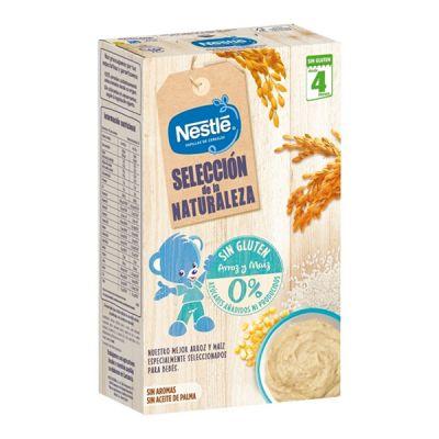 Nestlé Selección de la Naturaleza Papilla Cereales Sin Gluten Arroz y Maíz 330g