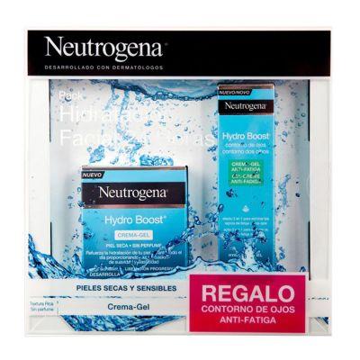 Neutrogena Pack Hidratación Facial 24 horas Hydro Boost Crema Gel + Contorno Regalo