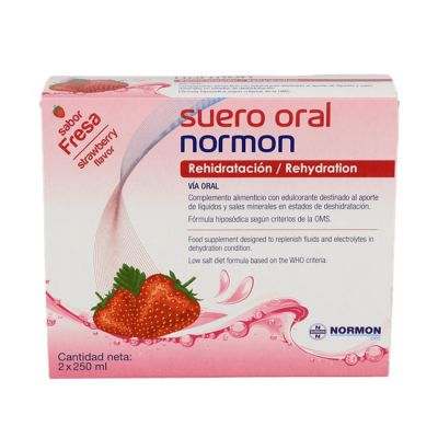 Normon Suero Oral Sabor Fresa 2 x 500ml Bricks