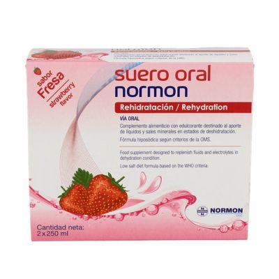 Normon Suero Oral Sabor Fresa 2 x 500ml Bricks