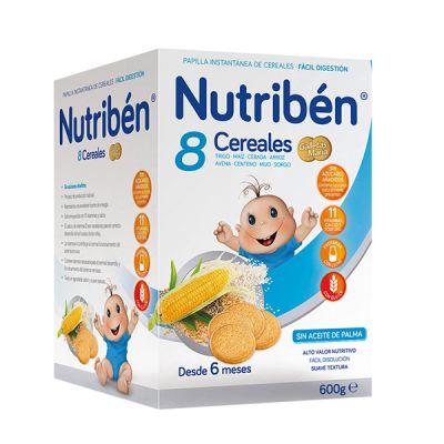 Nutriben Papilla 8 Cereales Galletas María 600gr