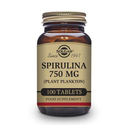 Solgar Espirulina 750mg 100 comp