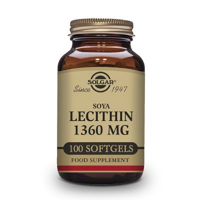 Solgar Lecitina Soja 1360mg 100 caps blandas