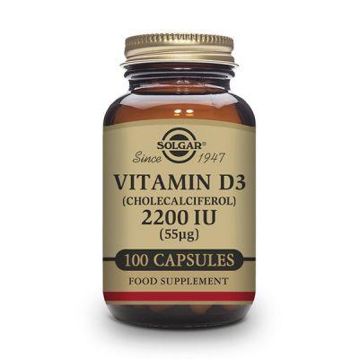 Solgar Vitamina D3 2200 UI (55µg) Colecalciferol 100 Cáps Vegetales
