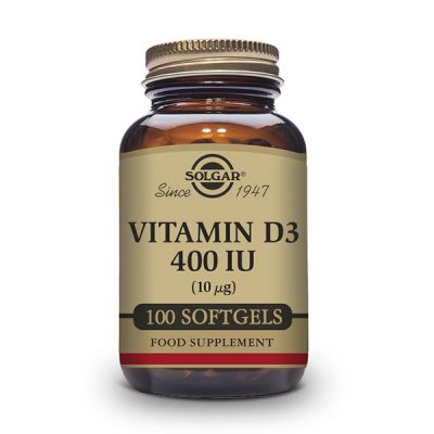 Solgar Vitamina D3 400 UI (10µg) 100 cápsulas blandas