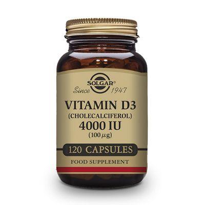 Solgar Vitamina D3 4000UI (100µg) Colecalciferol 120 Cáps Vegetales