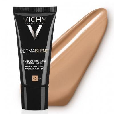 Vichy Dermablend Fondo de Maquillaje Fluido Corrector 45 Gold 30ml