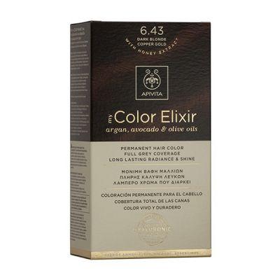 Apivita Tinte Rubio Oscuro Cobrizo Dorado Color Elixir 6,43