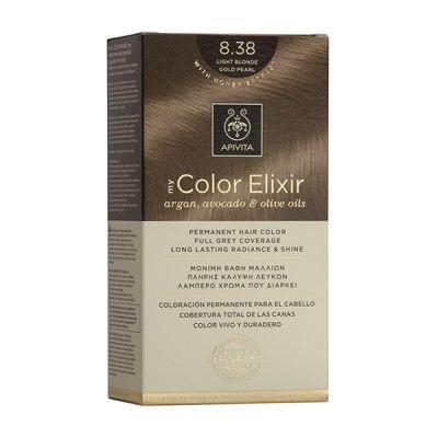 Apivita Tinte Rubio Dorado Claro Perlado Color Elixir 8,38
