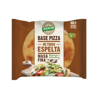 Biocop Base de Pizza de Espelta Masa Fina 3 bases 390g