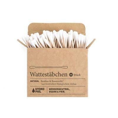 Brushboo Bastoncillos Biodegradables de Bambú y Algodón Orgánico 100 und