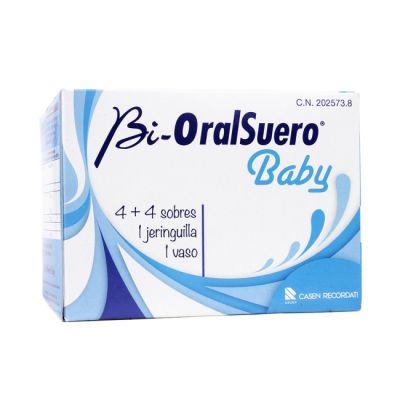 Bi-OralSuero Baby con Jeringuilla + Vaso y 4+4 sobres