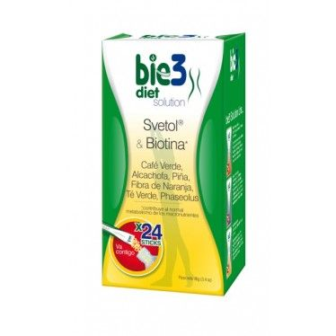 Bie3 Diet Solution Svetol y Biotina 24 sticks
