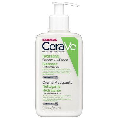 Cerave Crema Espuma Limpiadora Pieles Normales a Secas 236 ml