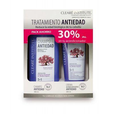 Cleare Institute Pack Tratamiento Antiedad Capilar Champú 400ml + Crema Acondicionadora 200ml