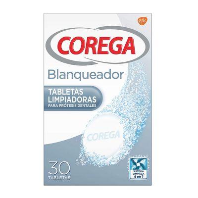 Corega Blanqueador Tabletas Limpiadoras 30und