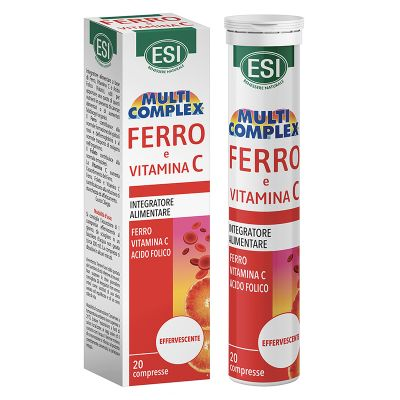 ESI Vitamina C + Hierro y Ácido Folico  Efervescente 20 comp