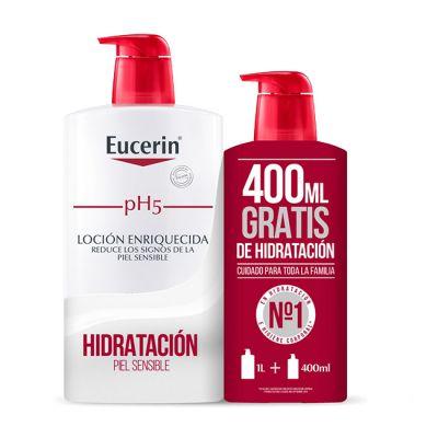 Eucerin Loción Enriquecida pH5 1l + 400ml GRATIS