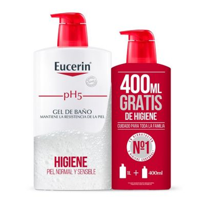 Eucerin pH5 Gel de Baño 1L + 400ml gratis
