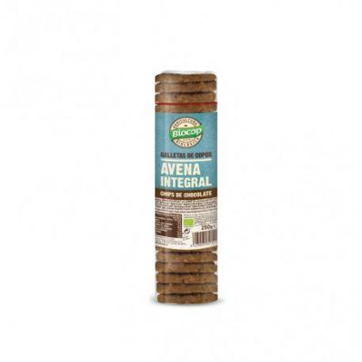 Biocop Galletas de Copos de Avena Integral con Chips de Chocolate 250g
