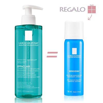 La Roche Posay Effaclar Gel Purificante Micro-Exfoliante 400ml + Regalo Serozinc 50ml