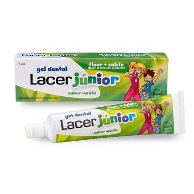 Lacer Junior Gel Dentifrico Menta  Flúor Y Calcio 75ml