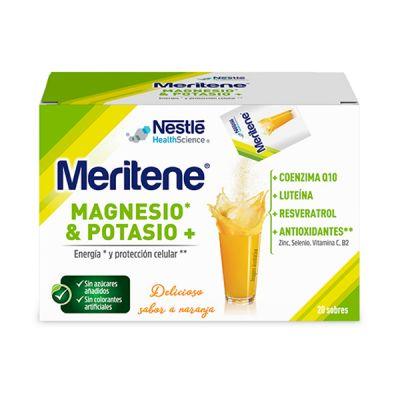 Meritene Magnesio y Potasio Naranja 20 sobres