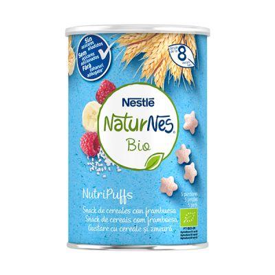 Nestle Naturnes Bio NutriPuffs Cereales con Frambuesa 8 meses 35g