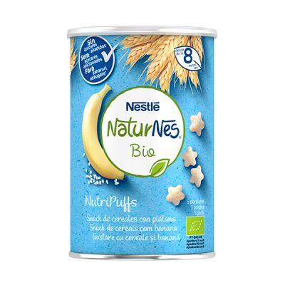 Nestle Naturnes Bio NutriPuffs Cereales con Plátano 8 meses 35g