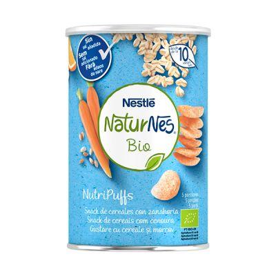 Nestle Naturnes Bio NutriPuffs Cereales con Zanahoria 10 meses 35g