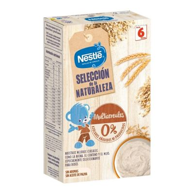 Nestlé Selección de la Naturaleza Papilla Multicereales 6 Meses 330g