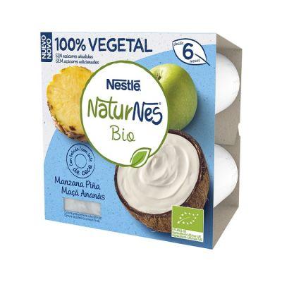 Nestlé Naturnes Bio Tarrina Coco con Manzana y Piña 4x90g