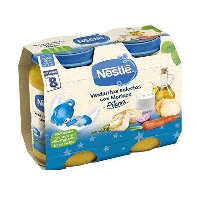 Tarrito Nestlé Crema de Verduritas con Merluza Pijama 2x200g