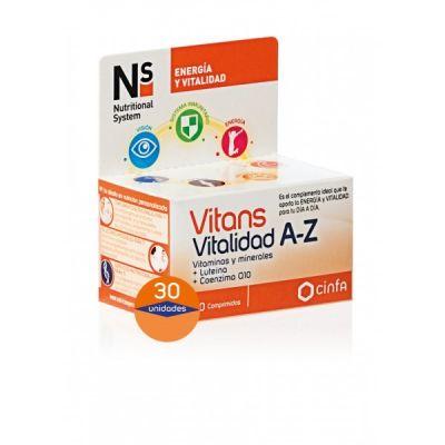 Ns Vitans Vitalidad A-Z 30 comprimidos